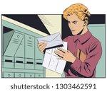 stock illustration. girl with... | Shutterstock .eps vector #1303462591