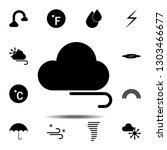 cloud  wind icon. simple glyph...