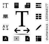 horizontal  text icon. simple...