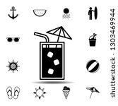 cold drink icon. simple glyph...