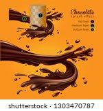 chocolate advertising design.... | Shutterstock .eps vector #1303470787