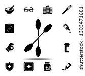 ear sticks icon. simple glyph...