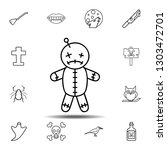 voodoo doll icon. simple...