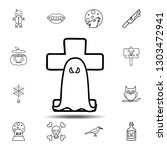 ghost over the tombstone icon....