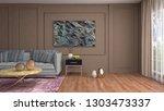 interior of the living room. 3d ...   Shutterstock . vector #1303473337