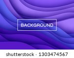 trendy violet paper cut wave... | Shutterstock .eps vector #1303474567