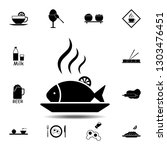 fish  dishes  food icon. simple ...