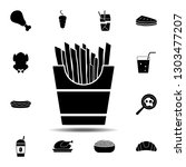 french fries icon. simple glyph ...