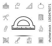 protracktor icon. simple...