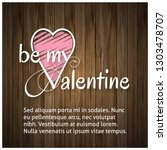 valentines day  background with ... | Shutterstock .eps vector #1303478707