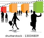 business in growth and business ... | Shutterstock . vector #13034809