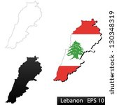 maps of lebanon  3 dimensional... | Shutterstock .eps vector #130348319