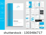 16 pages  business brochure... | Shutterstock .eps vector #1303486717