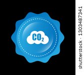 carbon dioxide icon on glossy... | Shutterstock .eps vector #1303487341