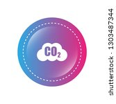 carbon dioxide icon on glossy... | Shutterstock .eps vector #1303487344