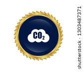 carbon dioxide icon on glossy... | Shutterstock .eps vector #1303487371