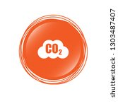 carbon dioxide icon on glossy... | Shutterstock .eps vector #1303487407