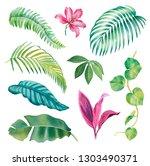 watercolor illustrations of...   Shutterstock . vector #1303490371