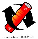 arrows and red battery | Shutterstock .eps vector #130349777
