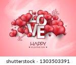 vector illustration.valentine's ... | Shutterstock .eps vector #1303503391