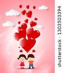 vector illustration.valentine's ... | Shutterstock .eps vector #1303503394