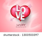 vector illustration.valentine's ... | Shutterstock .eps vector #1303503397