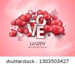 vector illustration.valentine's ... | Shutterstock .eps vector #1303503427