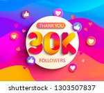 thanks for the 30000 followers. ... | Shutterstock .eps vector #1303507837