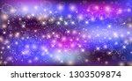 fantastic galaxy rectangle...   Shutterstock . vector #1303509874