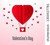 happy valentine day love... | Shutterstock .eps vector #1303527781