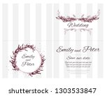 round vector frame with flowers ... | Shutterstock .eps vector #1303533847