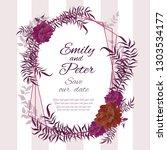 vector abstract wedding frame.... | Shutterstock .eps vector #1303534177