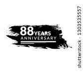 grunge 88 years anniversary... | Shutterstock .eps vector #1303535557