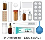 medicine preparation collection.... | Shutterstock .eps vector #1303536427