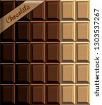 the texture of the chocolate in ... | Shutterstock .eps vector #1303537267