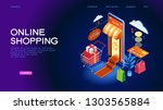 the sale and consumer concept....   Shutterstock .eps vector #1303565884