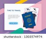 travel around the world....   Shutterstock .eps vector #1303574974