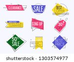 collection of  premium promo... | Shutterstock .eps vector #1303574977