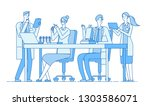 scientists in lab. research... | Shutterstock .eps vector #1303586071