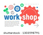 phrase workshop. business and...   Shutterstock .eps vector #1303598791