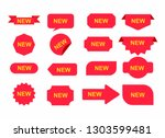 stickers for new arrival shop... | Shutterstock .eps vector #1303599481