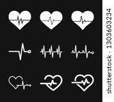heartbeat icon logo ... | Shutterstock .eps vector #1303603234