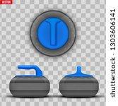 background curling stones.... | Shutterstock .eps vector #1303606141