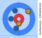 background of curling sport... | Shutterstock .eps vector #1303606144