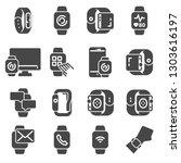 smart watch icons set. vector... | Shutterstock .eps vector #1303616197