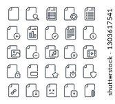 document bold line icon set....