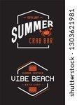 summer retro vector logo... | Shutterstock .eps vector #1303621981