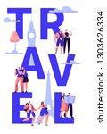 travel tour around world... | Shutterstock .eps vector #1303626334
