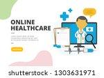 online healthcare flat design...   Shutterstock .eps vector #1303631971