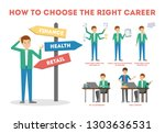 how to choose career guide.... | Shutterstock .eps vector #1303636531